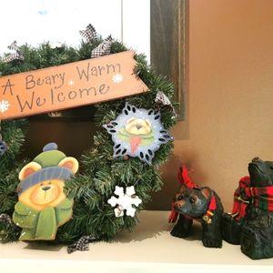 3 Christmas ornaments bear theme
